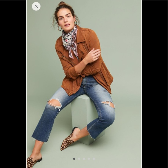 Anthropologie Jackets & Blazers - Everyday Belted Moto Jacket in Cedar